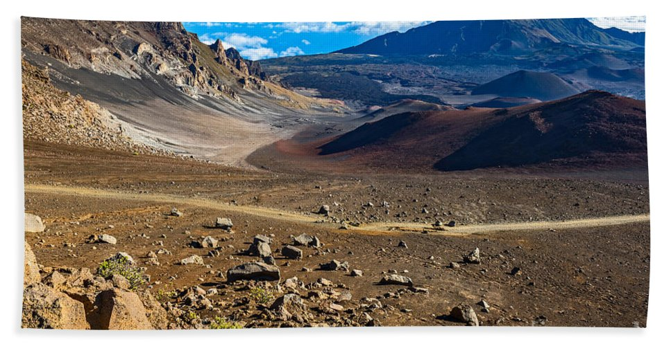 Haleakala Volcano Hand Towel featuring the photograph The Summit Of Haleakala Volcano In Maui. by Jamie Pham