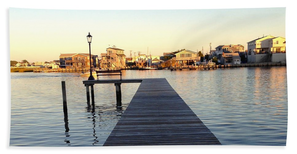Lbi Bath Sheet featuring the photograph The Sun Begins To Set On Long Beach Island by Christy Gendalia