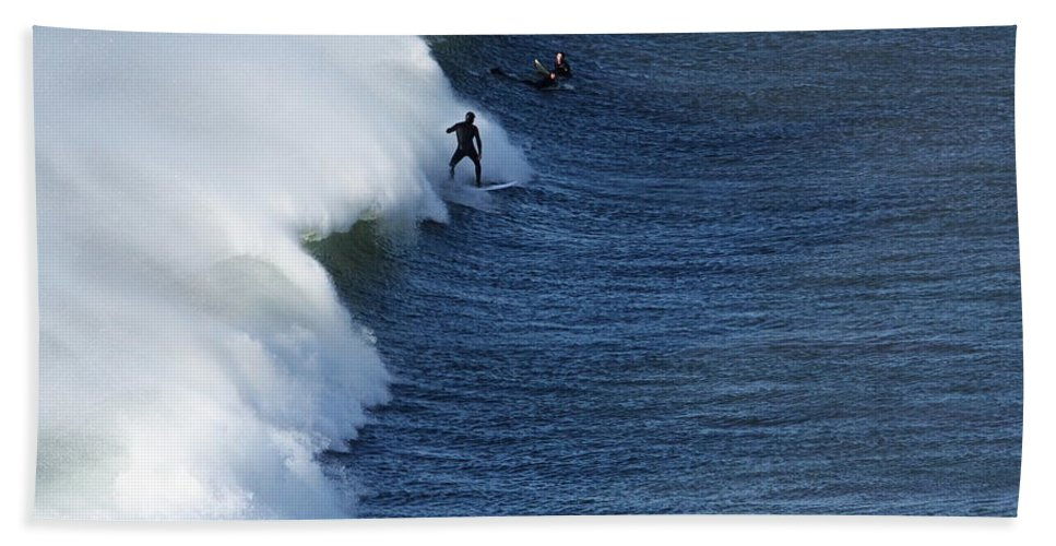 Ireland Hand Towel featuring the photograph The Surfer by Aidan Moran