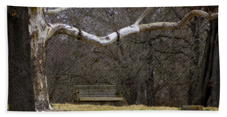 Country Bath Sheet featuring the photograph The Swing by Darrell Clakley