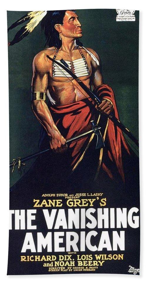The Vanishing American Bath Sheet featuring the photograph The Vanishing American by Movie Poster Prints