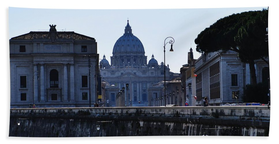 Vatican Hand Towel featuring the photograph The Vatican by Richard Booth