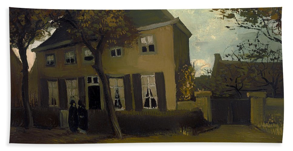 Painting Bath Sheet featuring the painting The Vicarage At Neunen by Mountain Dreams