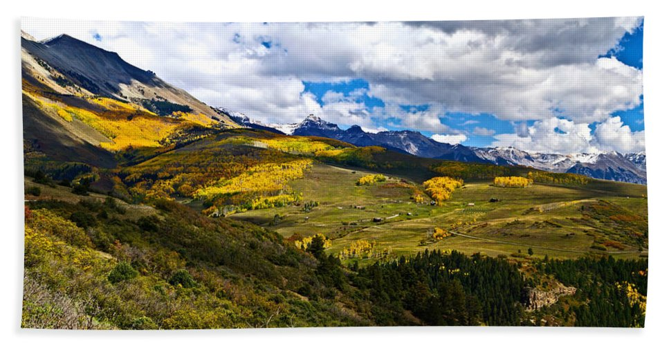 Colorado Photographs Hand Towel featuring the photograph The View From Last Dollar Road by Gary Benson