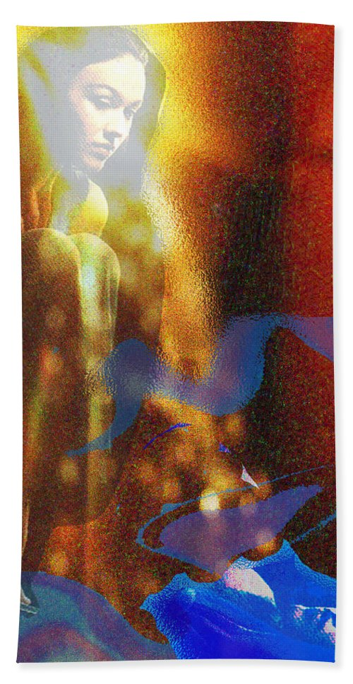 Vision Hand Towel featuring the digital art The Vision by Seth Weaver