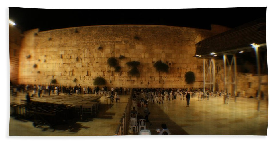 Israel Bath Sheet featuring the photograph The Wailing Wall by Doc Braham