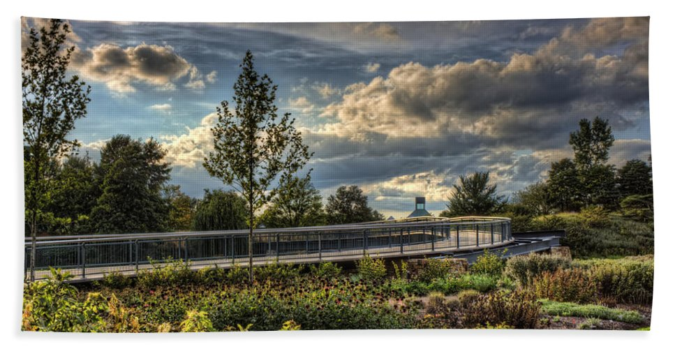 Landscape Bath Sheet featuring the photograph The Walking Path by Scott Wood