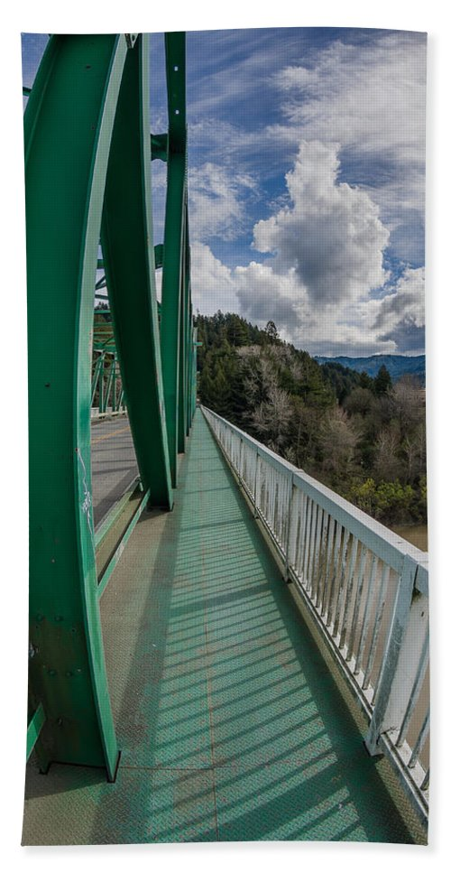 Bridge Walkway Hand Towel featuring the photograph The Walkway by Greg Nyquist
