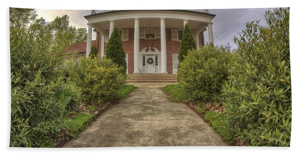 The Ward Mansion Hand Towel featuring the photograph The Ward Mansion - Conway - Arkansas by Jason Politte