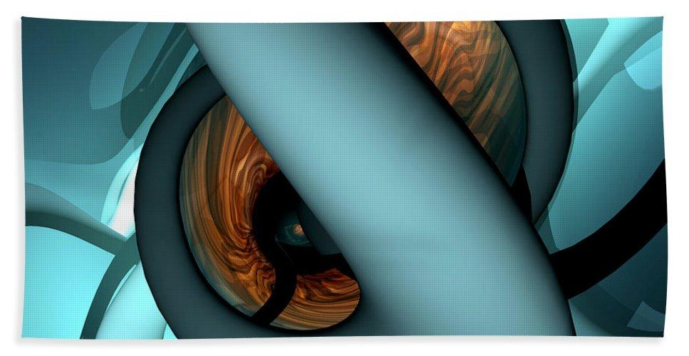 3d Bath Sheet featuring the digital art The Watcher Abstract by Alexander Butler