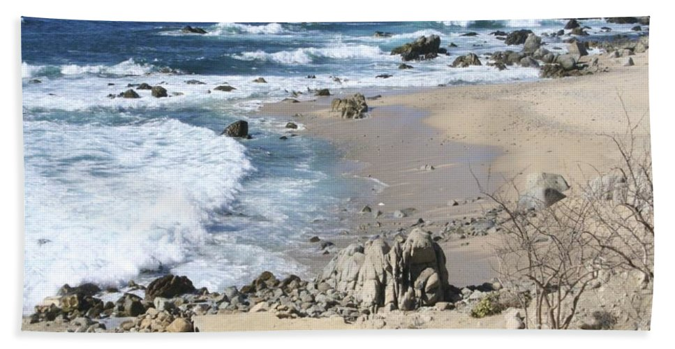 Sea Hand Towel featuring the photograph The Waves - The Sea by Christy Gendalia
