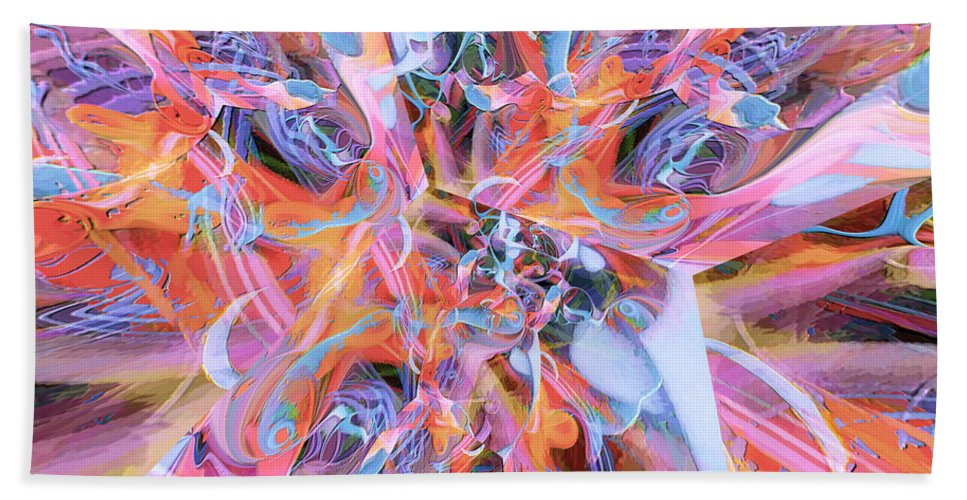 Abstract Hand Towel featuring the digital art The Welling Wall 2 by Margie Chapman