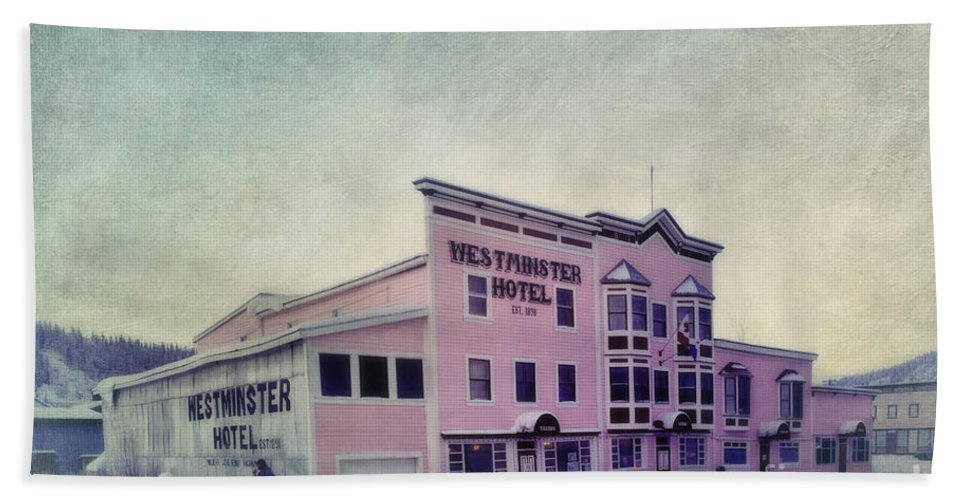 Westminster Hand Towel featuring the photograph The Westminster Hotel Aka The Pit by Priska Wettstein