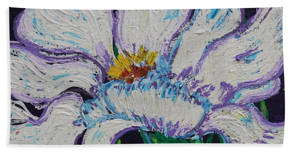 Impressionism Hand Towel featuring the painting The White Flower by Stefan Duncan