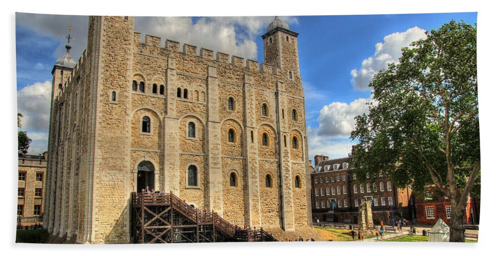 Hdr Hand Towel featuring the photograph The White Tower by Lee Nichols
