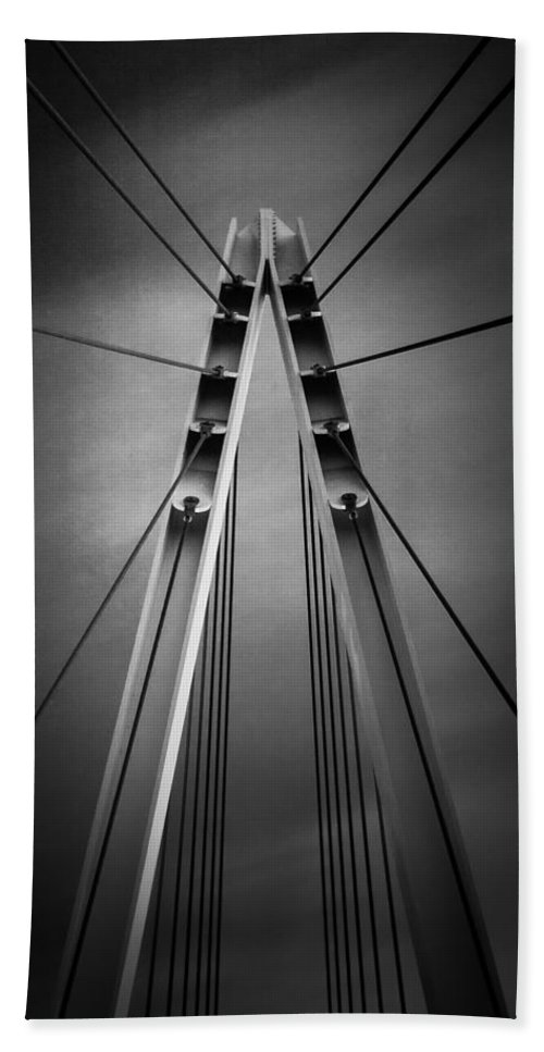 Mary Avenue Bridge Hand Towel featuring the photograph The Wind Cries Mary by Dayne Reast