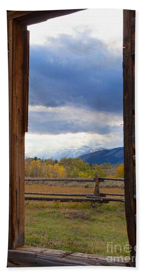Old Barn Hand Towel featuring the photograph The Window  by Jim Garrison