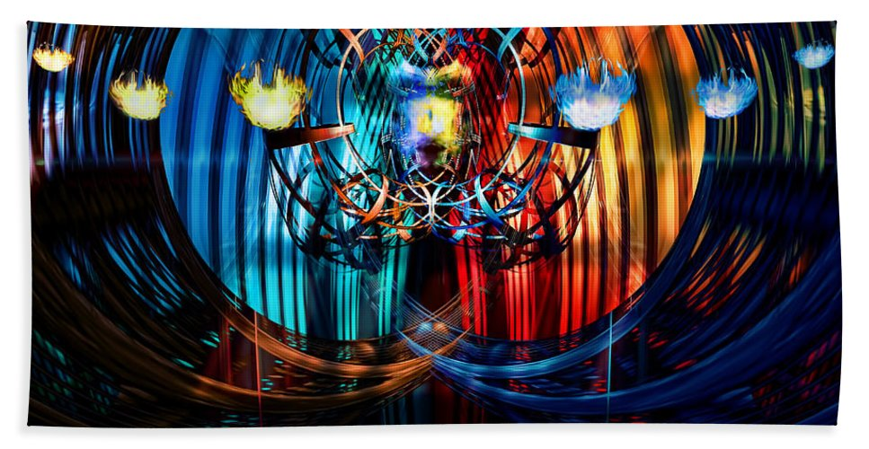 Wizard Hand Towel featuring the digital art The Wizard by Adam Vance