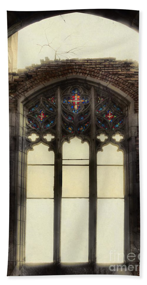 Church Bath Sheet featuring the photograph The Worlds Window by Margie Hurwich