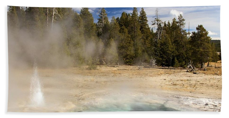 Yellowstone National Park Hand Towel featuring the photograph Thermal Landscape by Adam Jewell