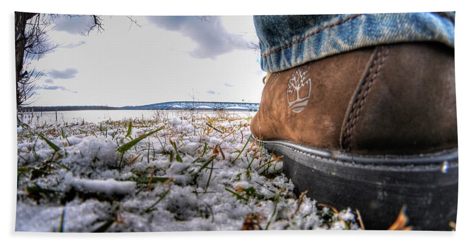 Hand Towel featuring the photograph These Boots Were Made For... by Michael Frank Jr