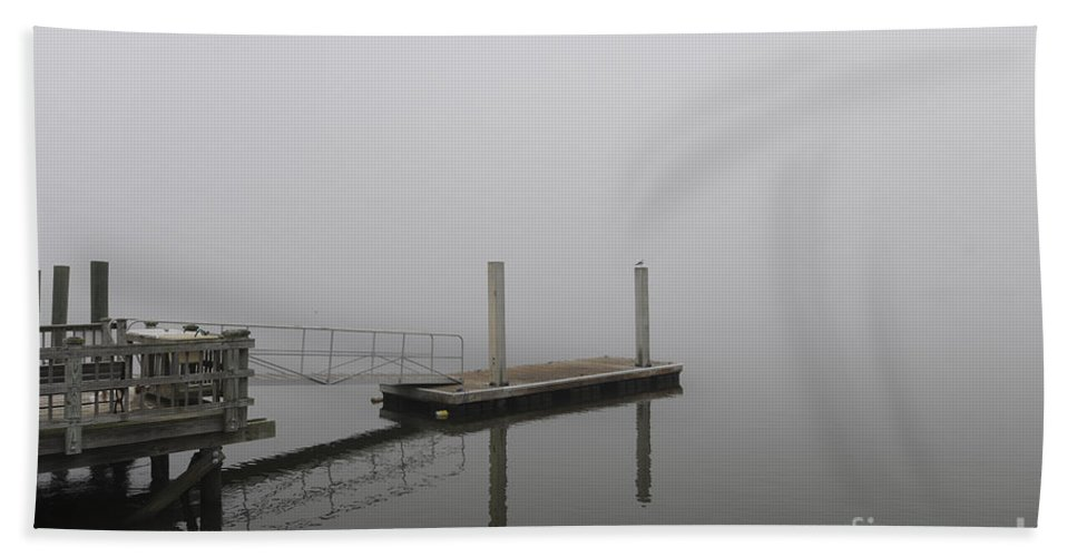 Fog Hand Towel featuring the photograph Thick As Smoke by Dale Powell