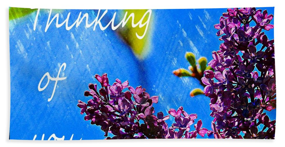 Thinking Of You Hand Towel featuring the digital art Thinking Of You 3 by Barbara Griffin