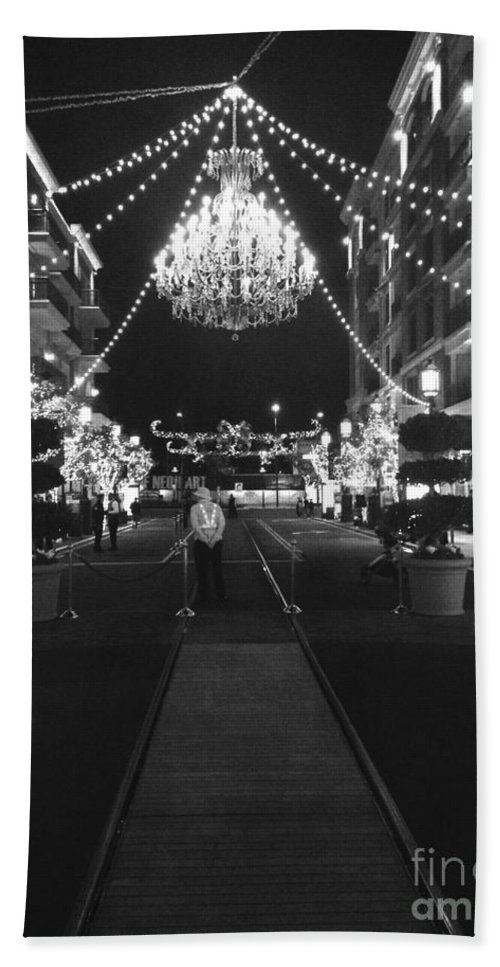 Chandelier Bath Sheet featuring the photograph This Is A Classy Town by Lynsie Petig