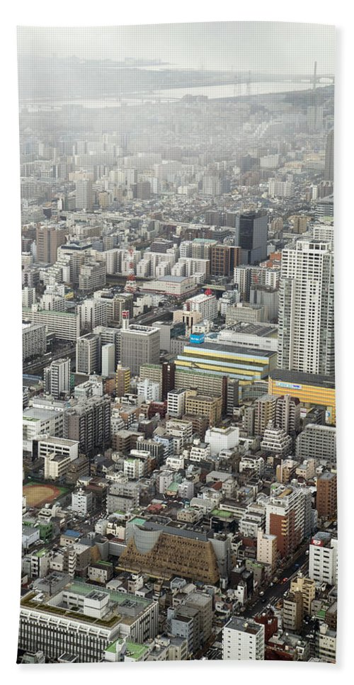 Skytree Hand Towel featuring the photograph This Is Tokyo by For Ninety One Days