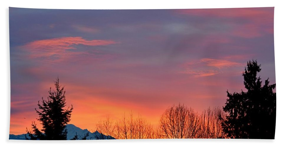 Sunrise Hand Towel featuring the photograph This Magic Hour by Lena Photo Art