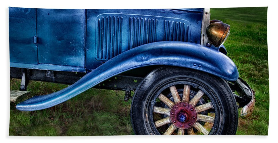Old Bath Sheet featuring the photograph This Old Car by Susan Candelario