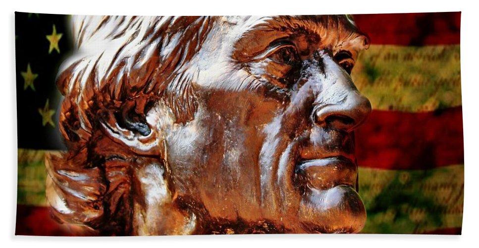 Thomas Jefferson Bath Sheet featuring the photograph Thomas Jefferson Statue by Judy Palkimas