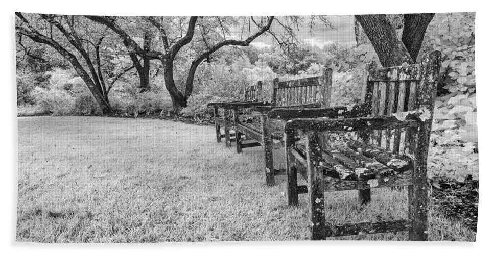 Infrared Bath Sheet featuring the photograph Though We Are Weathered We Remain Steadfast by Edward Kreis