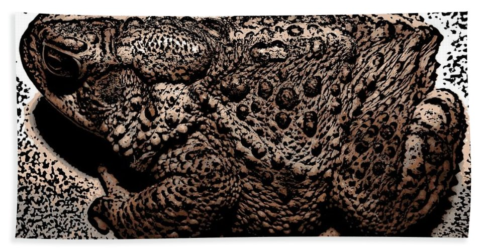 Toads Hand Towel featuring the photograph Thoughtful Toad by Rose Santuci-Sofranko