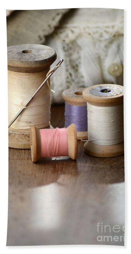 Thread Hand Towel featuring the photograph Thread And Mending by Jill Battaglia