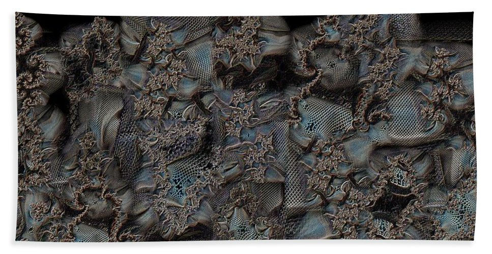 Collage Hand Towel featuring the digital art Threadbare by Ron Bissett
