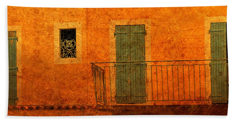 Doors Hand Towel featuring the photograph Three Doors In Provence by Dave Mills