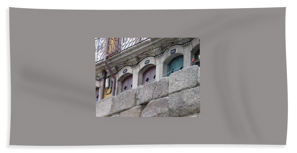 Stone Bath Sheet featuring the photograph Three Doors by Kimberly Maxwell Grantier