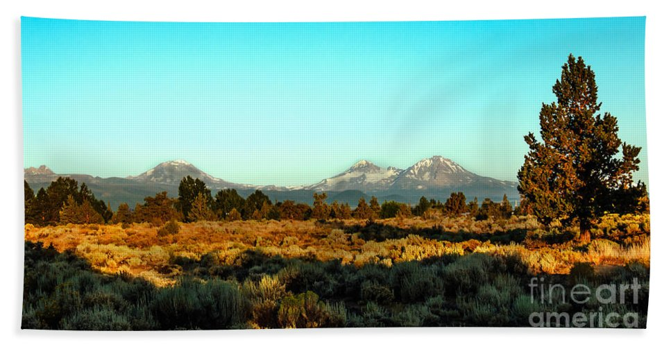 Mountains Hand Towel featuring the photograph Three Sisters by Robert Bales