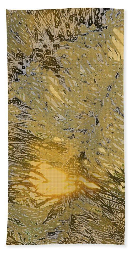 Palm Bath Sheet featuring the digital art Through The Palm Leaves by Ian MacDonald