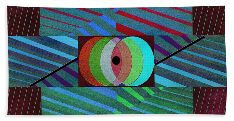 Abstract Hand Towel featuring the photograph Through The Roof by Linda Dunn