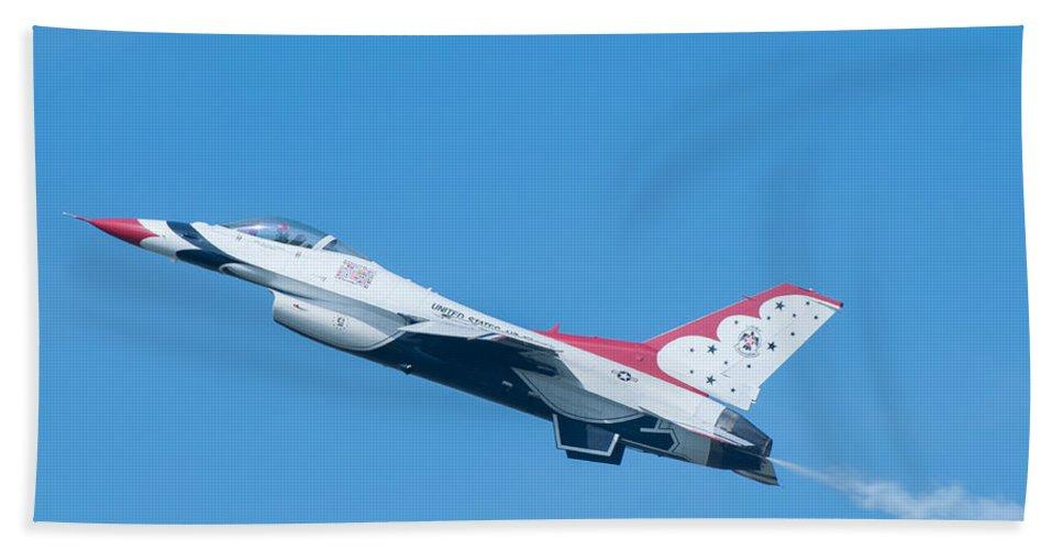 Air Bath Sheet featuring the photograph Thunderbird by Amel Dizdarevic