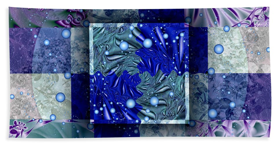 Tidepools Hand Towel featuring the digital art Tidepools by Kimberly Hansen
