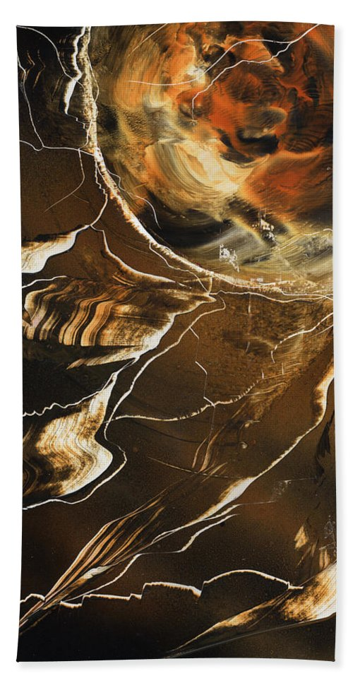 Lightning Strike Bath Sheet featuring the painting Tiger Stripe by Jason Girard
