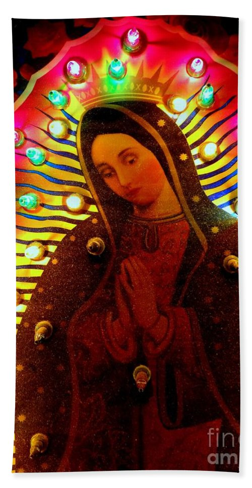 Mother Mary Bath Sheet featuring the photograph Tijuana Mary by Ed Weidman
