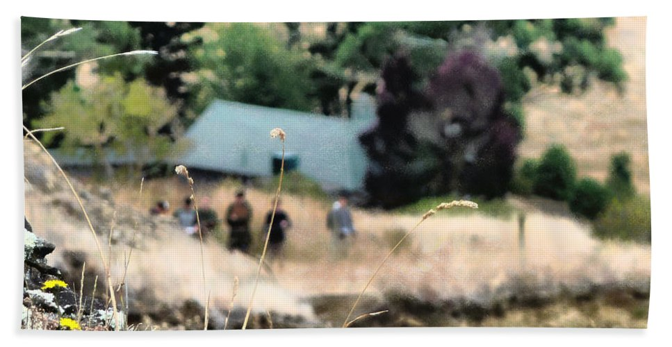 Grass Bath Sheet featuring the photograph Time For A Picnic by Steve Taylor