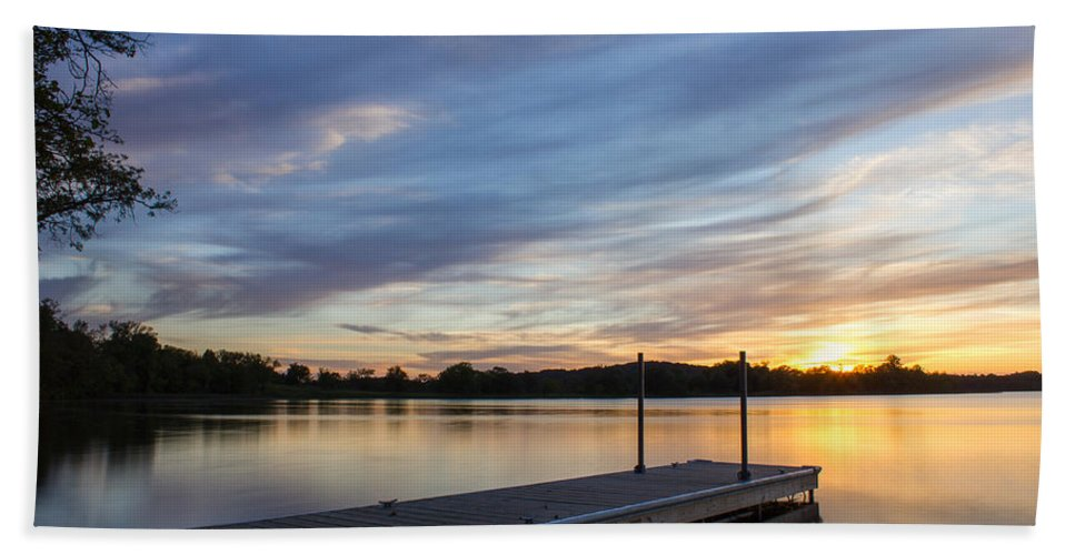 Sunset Bath Sheet featuring the photograph Time To Unwind by Penny Meyers