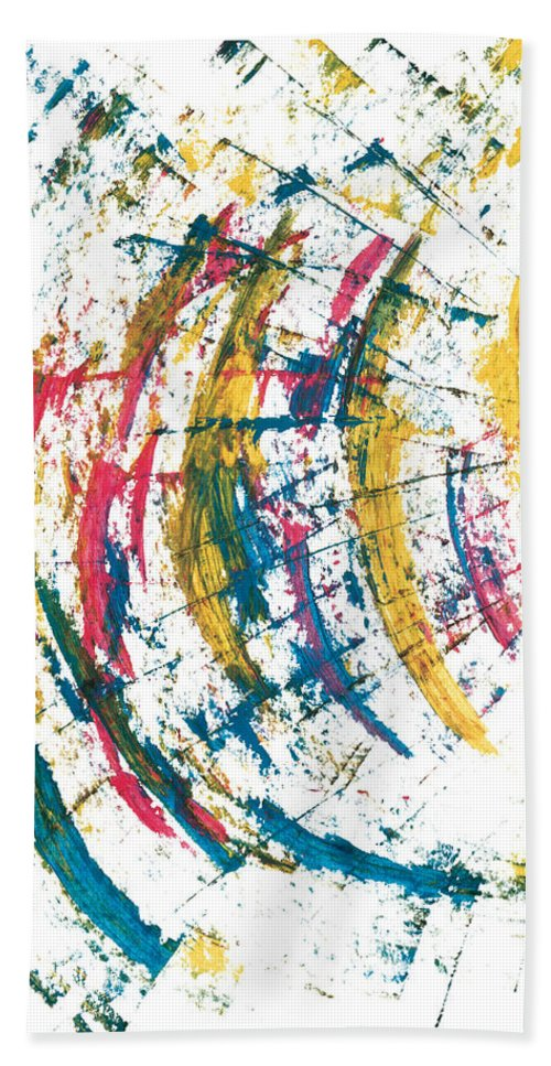 Contemporary Hand Towel featuring the painting Time Travel by Bjorn Sjogren