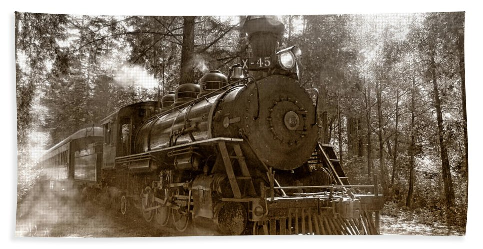 Locomotive Hand Towel featuring the photograph Time Traveler by Donna Blackhall