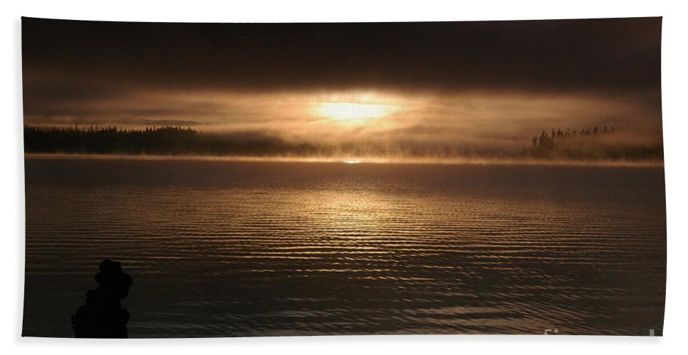 Boating Bath Sheet featuring the photograph Timothy Lake Mysterious Sunrise 2 by Rick Bures